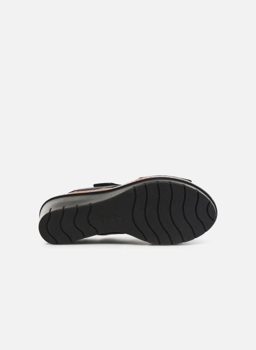 Sandalen Clarks PALM STELLAR schwarz ansicht von oben