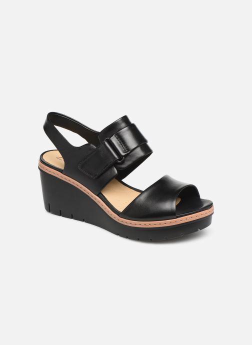 Sandales et nu-pieds Clarks PALM STELLAR Noir vue détail/paire