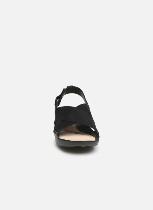 Sandales et nu-pieds Clarks TRI CHLOE New Noir vue portées chaussures