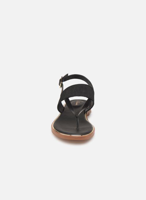 Sandales et nu-pieds Clarks ELLIS OPAL Noir vue portées chaussures