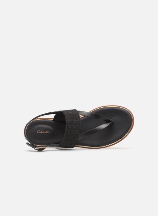Sandales et nu-pieds Clarks ELLIS OPAL Noir vue gauche