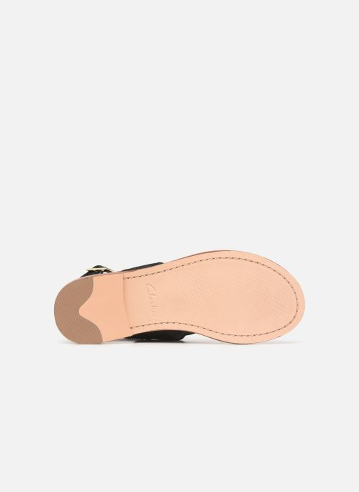 Sandales et nu-pieds Clarks ELLIS OPAL Noir vue haut