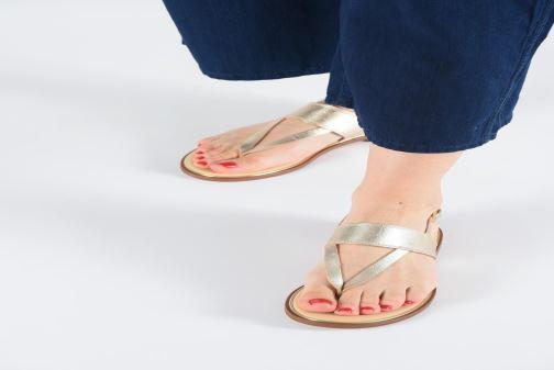 Sandales et nu-pieds Clarks ELLIS OPAL Or et bronze vue bas / vue portée sac