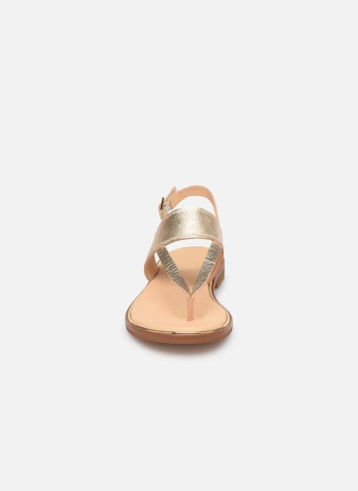 Sandales et nu-pieds Clarks ELLIS OPAL Or et bronze vue portées chaussures