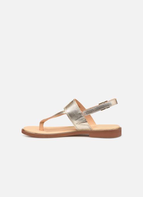 Sandales et nu-pieds Clarks ELLIS OPAL Or et bronze vue face