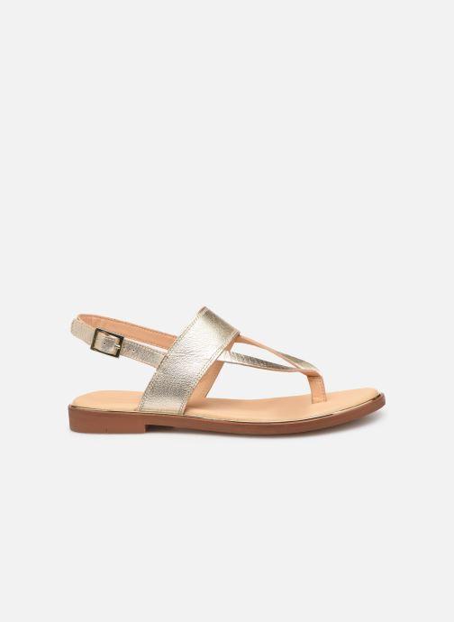 Sandales et nu-pieds Clarks ELLIS OPAL Or et bronze vue derrière