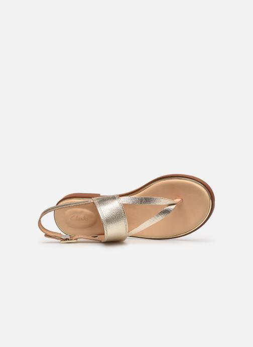 Sandales et nu-pieds Clarks ELLIS OPAL Or et bronze vue gauche