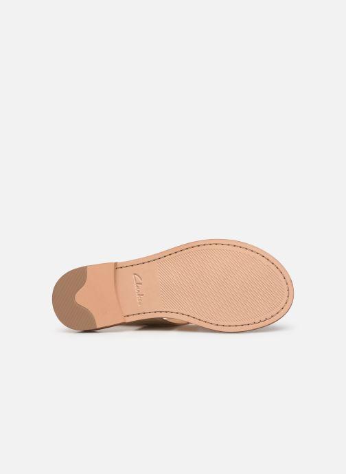 Sandales et nu-pieds Clarks ELLIS OPAL Or et bronze vue haut