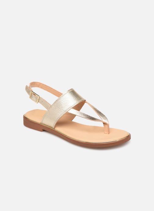 Sandales et nu-pieds Clarks ELLIS OPAL Or et bronze vue détail/paire