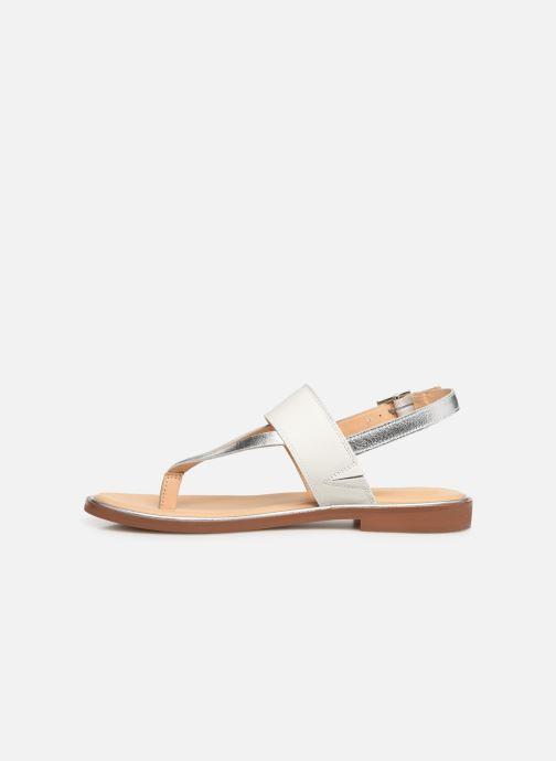 Sandales et nu-pieds Clarks ELLIS OPAL Blanc vue face