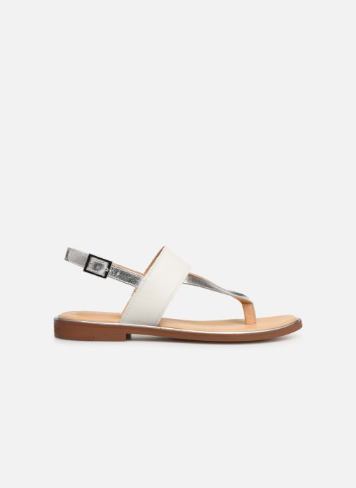 Sandales et nu-pieds Clarks ELLIS OPAL Blanc vue derrière