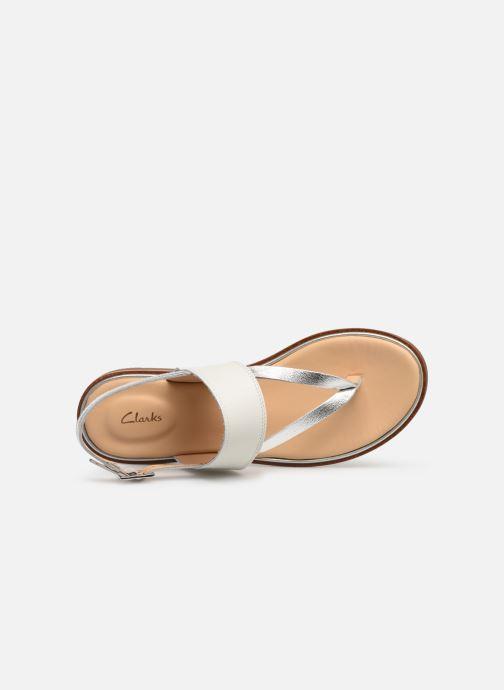 Sandales et nu-pieds Clarks ELLIS OPAL Blanc vue gauche