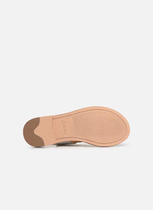 Sandales et nu-pieds Clarks ELLIS OPAL Blanc vue haut