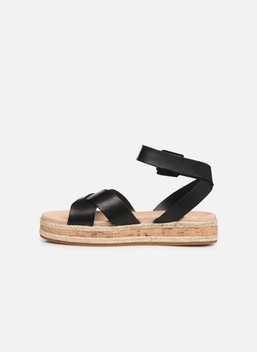 Sandales et nu-pieds Clarks BOTANIC POPPY Noir vue face