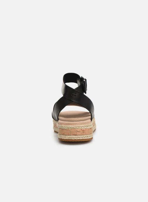 Sandales et nu-pieds Clarks BOTANIC POPPY Noir vue droite