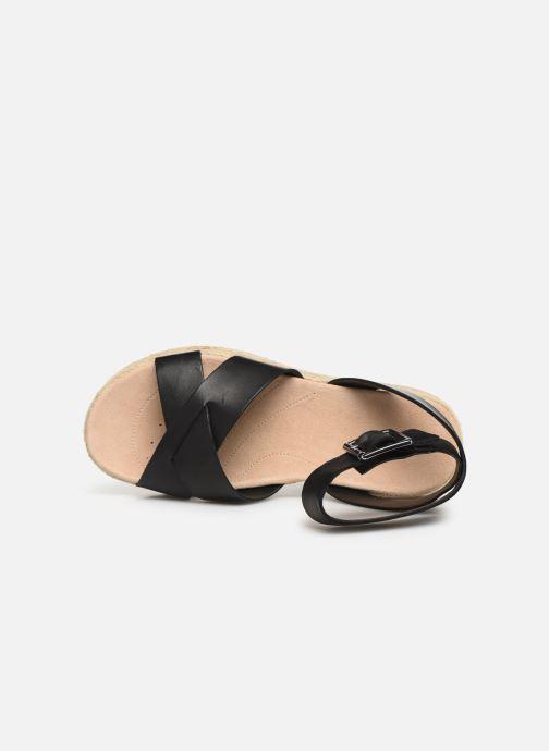 Sandales et nu-pieds Clarks BOTANIC POPPY Noir vue gauche