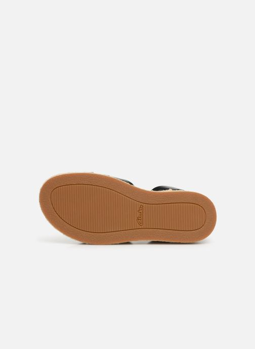 Sandales et nu-pieds Clarks BOTANIC POPPY Noir vue haut