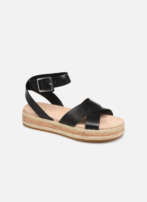 Sandales et nu-pieds Clarks BOTANIC POPPY Noir vue détail/paire