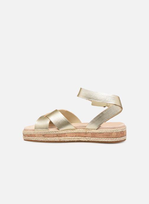 Sandales et nu-pieds Clarks BOTANIC POPPY Or et bronze vue face