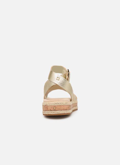Sandales et nu-pieds Clarks BOTANIC POPPY Or et bronze vue droite
