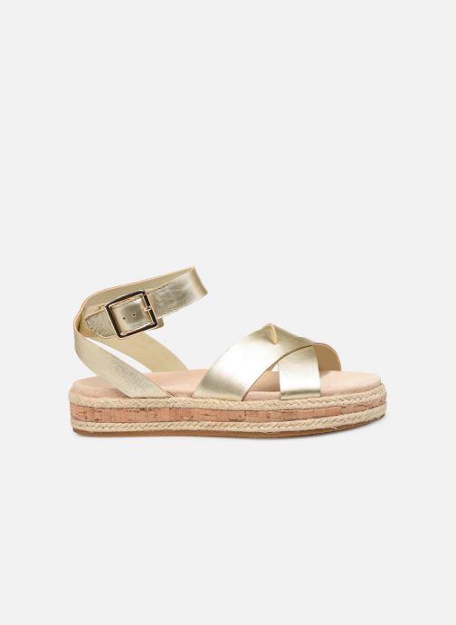 Sandales et nu-pieds Clarks BOTANIC POPPY Or et bronze vue derrière