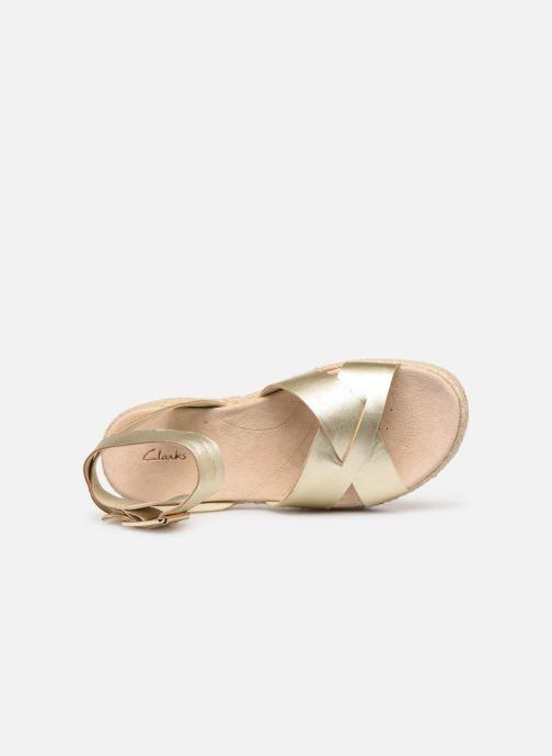 Sandales et nu-pieds Clarks BOTANIC POPPY Or et bronze vue gauche
