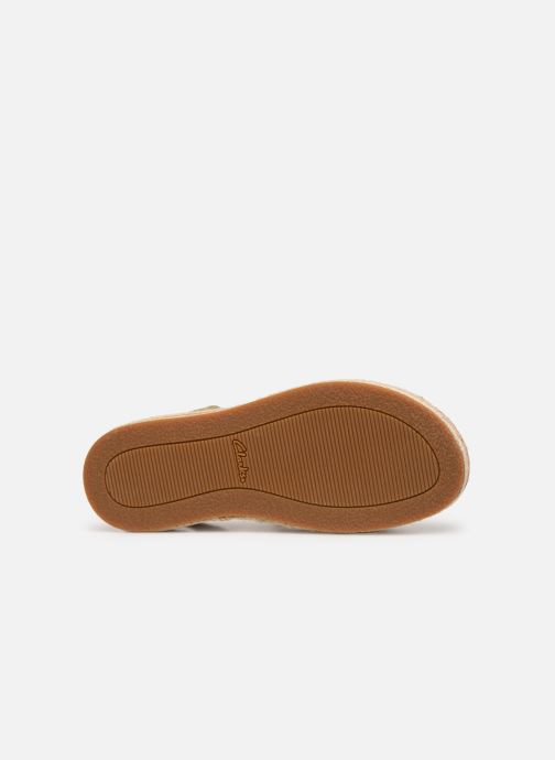 Sandales et nu-pieds Clarks BOTANIC POPPY Or et bronze vue haut