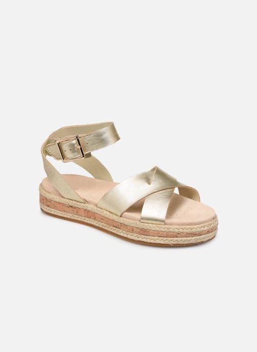 Sandaler Clarks BOTANIC POPPY Guld og bronze detaljeret billede af skoene