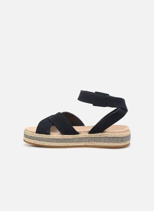 Sandales et nu-pieds Clarks BOTANIC POPPY Bleu vue face