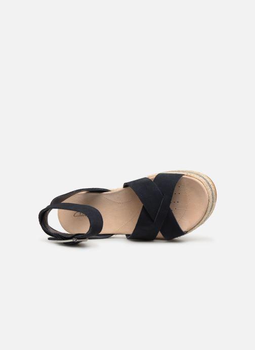 Sandales et nu-pieds Clarks BOTANIC POPPY Bleu vue gauche