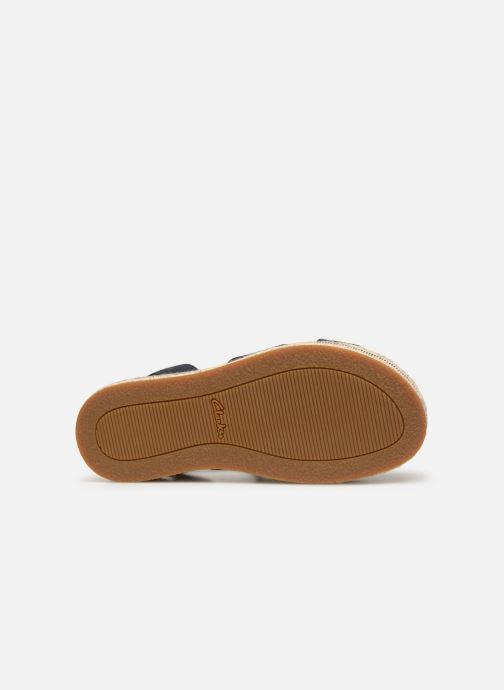 Sandales et nu-pieds Clarks BOTANIC POPPY Bleu vue haut