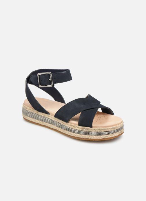 Sandales et nu-pieds Clarks BOTANIC POPPY Bleu vue détail/paire