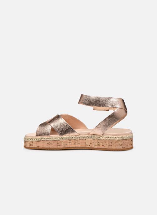 Sandales et nu-pieds Clarks BOTANIC POPPY Argent vue face