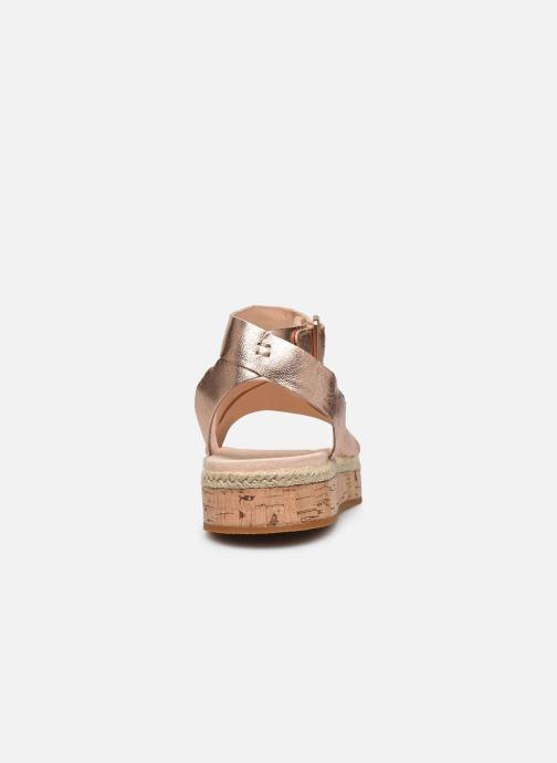 Sandales et nu-pieds Clarks BOTANIC POPPY Argent vue droite