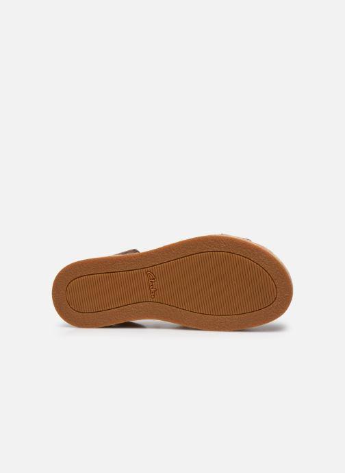 Sandales et nu-pieds Clarks BOTANIC POPPY Argent vue haut