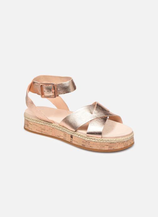 Sandales et nu-pieds Clarks BOTANIC POPPY Argent vue détail/paire