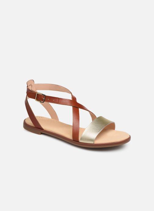 Sandales et nu-pieds Clarks BAY ROSIE Marron vue détail/paire