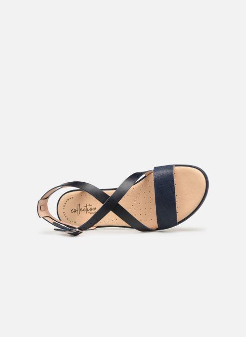 Sandales et nu-pieds Clarks BAY ROSIE Bleu vue gauche