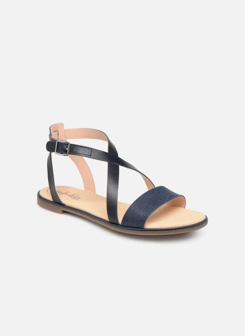 Sandales et nu-pieds Clarks BAY ROSIE Bleu vue détail/paire