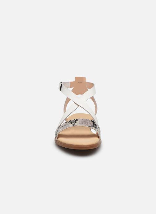 Sandales et nu-pieds Clarks BAY ROSIE Gris vue portées chaussures