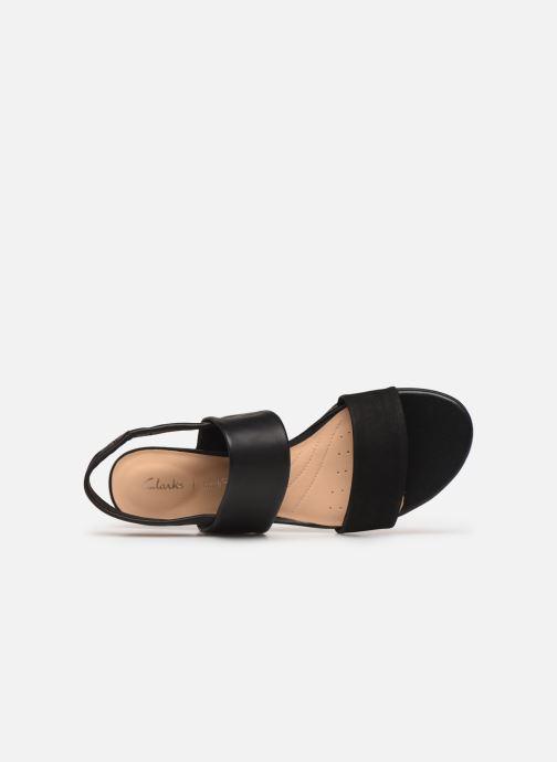 Sandales et nu-pieds Clarks SENSE LILY Noir vue gauche