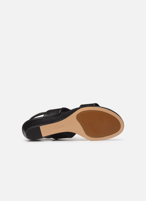Sandales et nu-pieds Clarks SENSE LILY Noir vue haut
