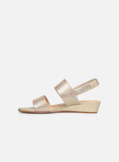 Sandales et nu-pieds Clarks SENSE LILY Or et bronze vue face