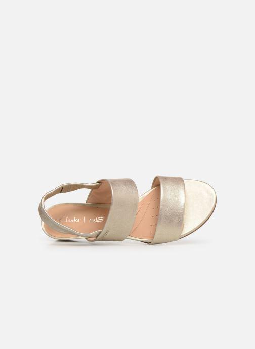 Sandales et nu-pieds Clarks SENSE LILY Or et bronze vue gauche