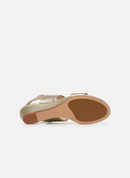 Sandales et nu-pieds Clarks SENSE LILY Or et bronze vue haut