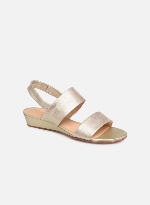 Sandaler Clarks SENSE LILY Guld og bronze detaljeret billede af skoene