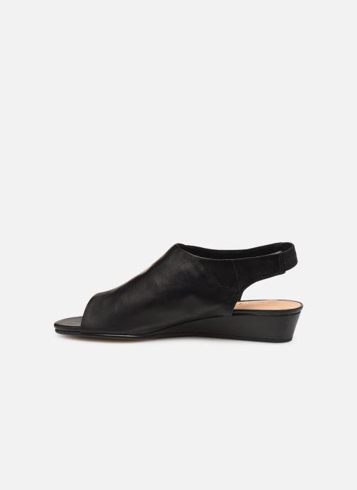 Sandales et nu-pieds Clarks SENSE SILK Noir vue face
