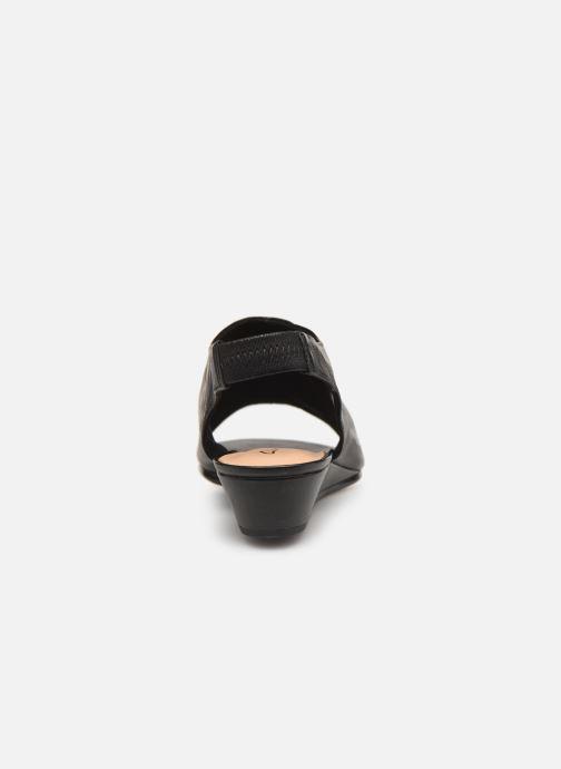Sandales et nu-pieds Clarks SENSE SILK Noir vue droite