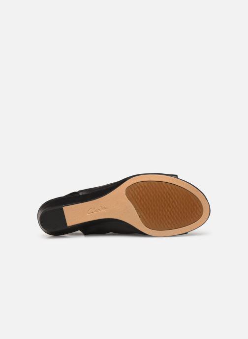 Sandales et nu-pieds Clarks SENSE SILK Noir vue haut