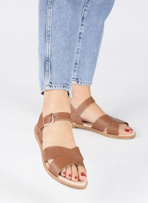 Sandales et nu-pieds Clarks WILLOW GILD Marron vue bas / vue portée sac